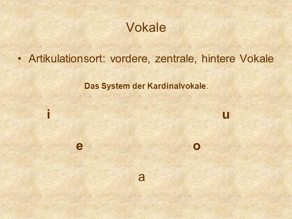 Das System der Kardinalvokale: