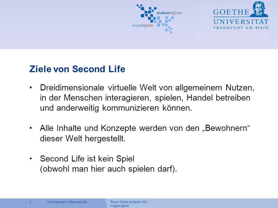 Ziele von Second Life