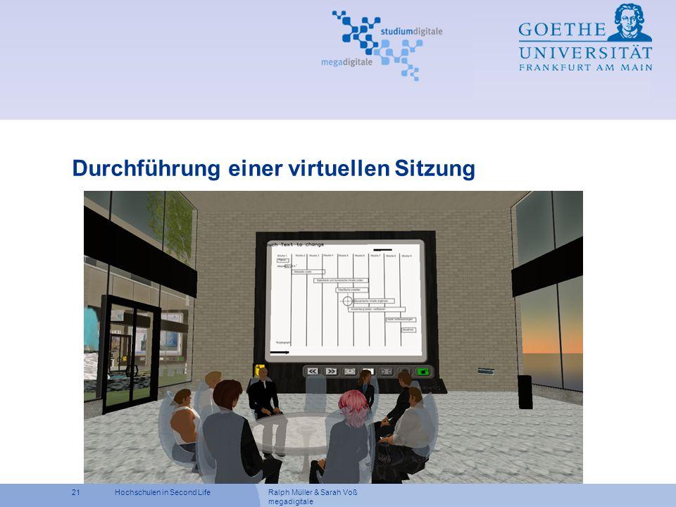 Durchführung einer virtuellen Sitzung