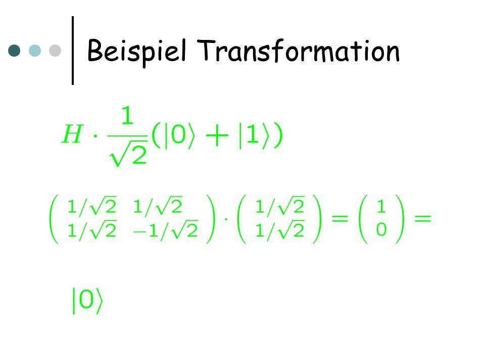 Beispiel Transformation