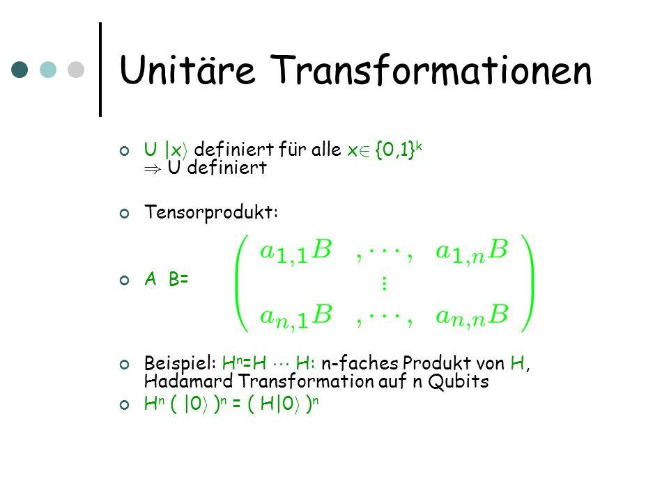 Unitäre Transformationen