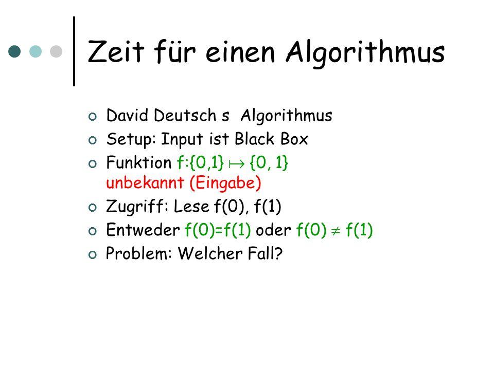 Zeit für einen Algorithmus