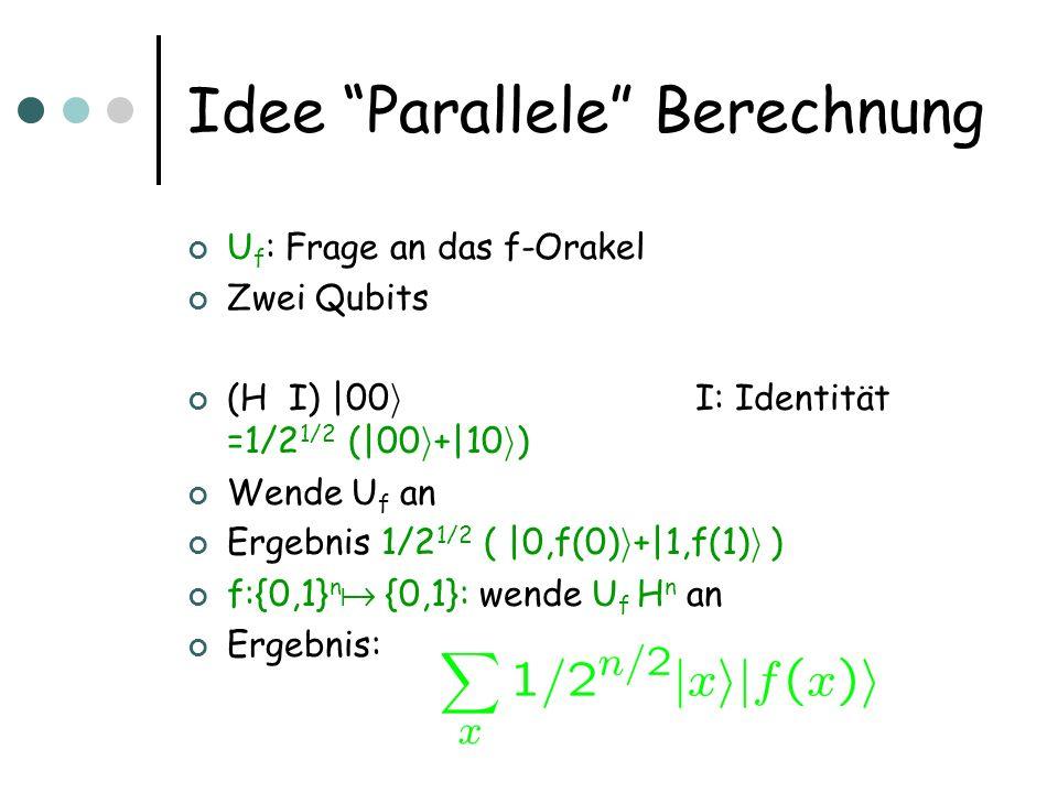 Idee Parallele Berechnung
