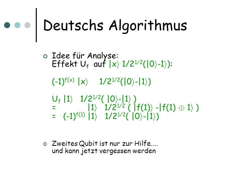 Deutschs Algorithmus