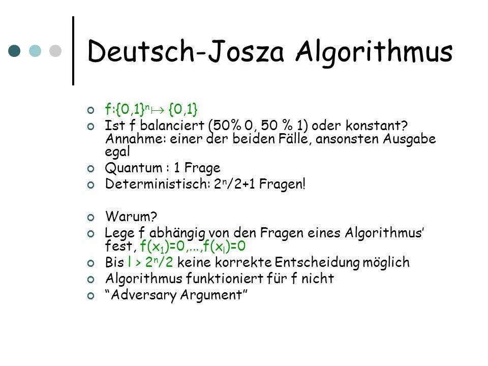 Deutsch-Josza Algorithmus