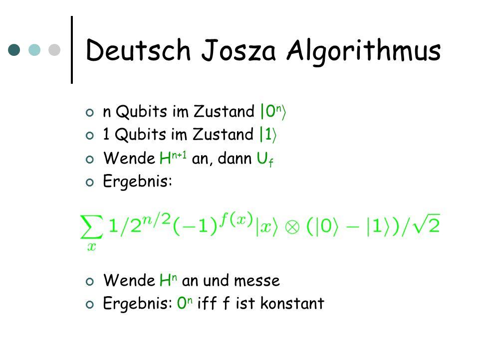 Deutsch Josza Algorithmus