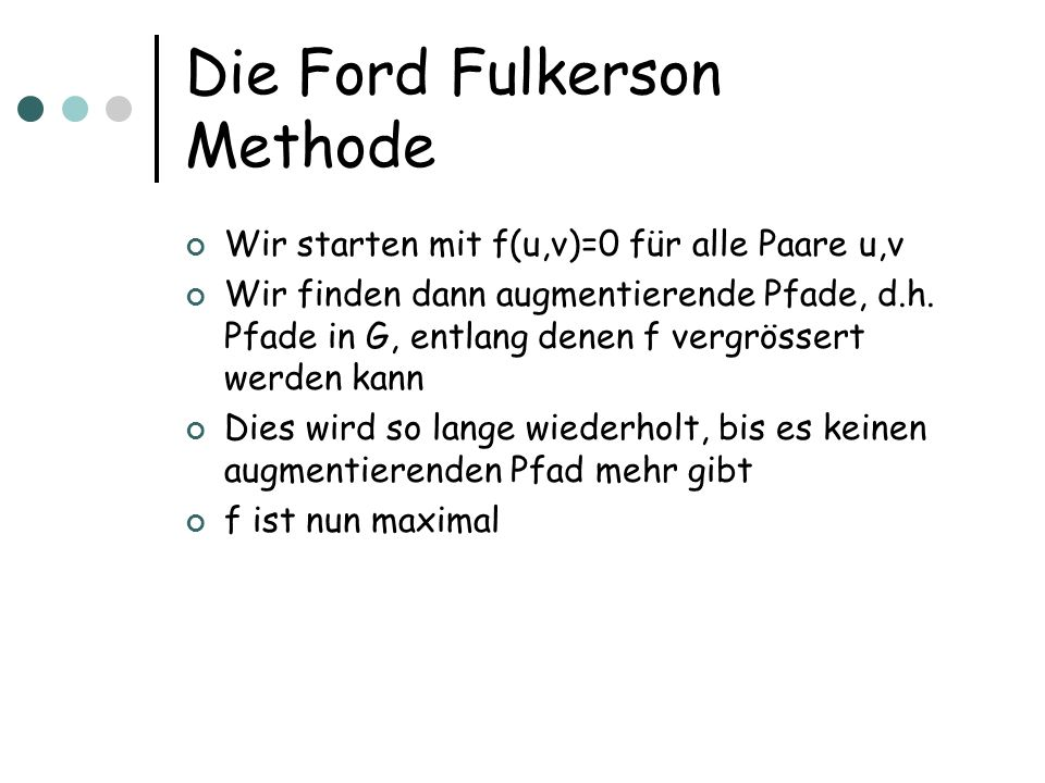 Die Ford Fulkerson Methode