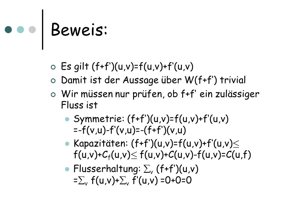 Beweis: Es gilt (f+f')(u,v)=f(u,v)+f'(u,v)