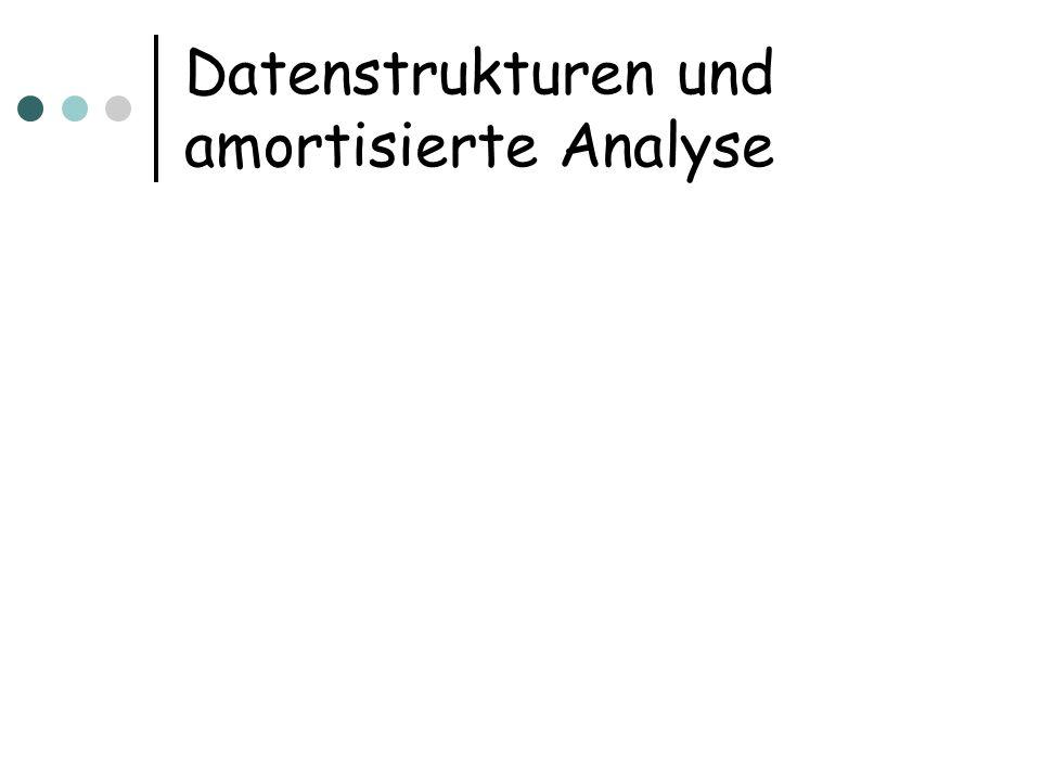Datenstrukturen und amortisierte Analyse