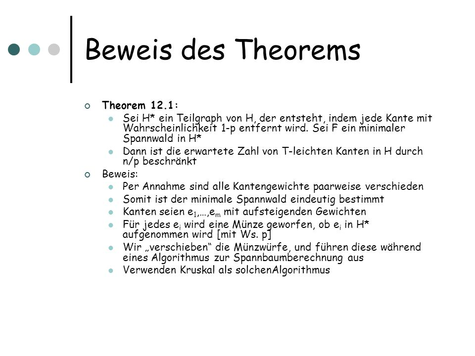 Beweis des Theorems Theorem 12.1: