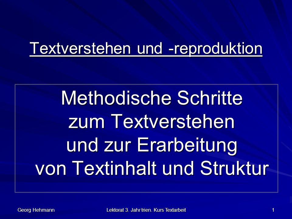 Textverstehen und -reproduktion