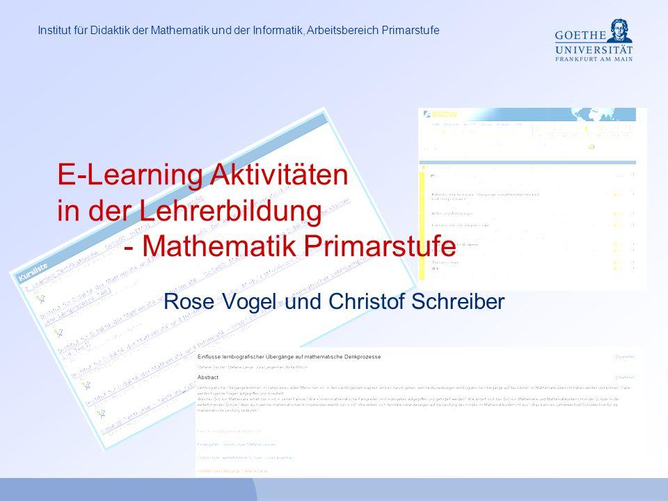 E-Learning Aktivitäten in der Lehrerbildung - Mathematik Primarstufe
