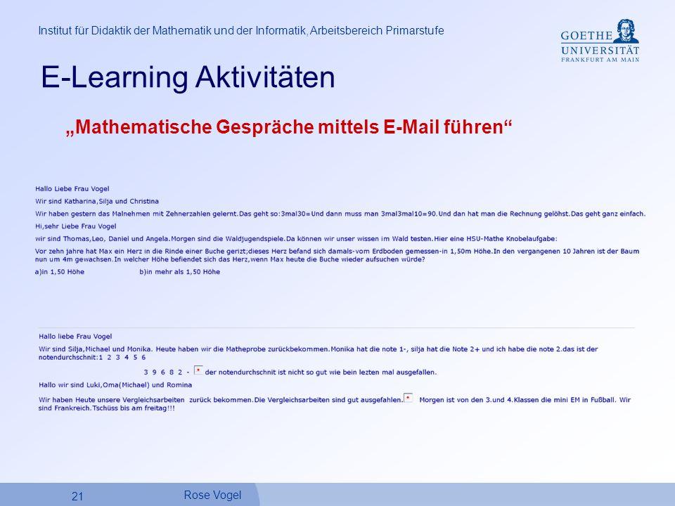 E-Learning Aktivitäten