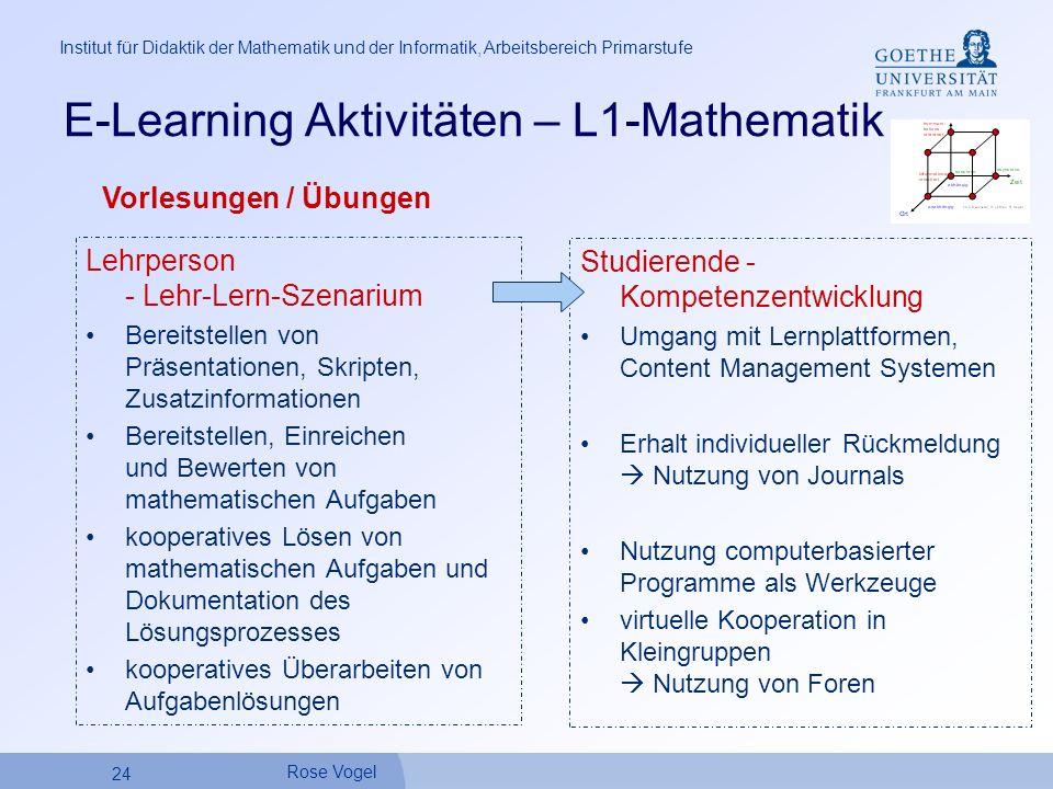 E-Learning Aktivitäten – L1-Mathematik