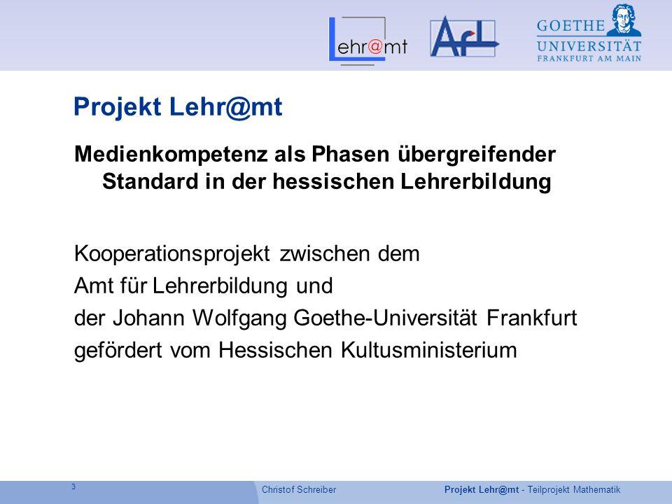 Projekt Lehr@mt Medienkompetenz als Phasen übergreifender Standard in der hessischen Lehrerbildung.