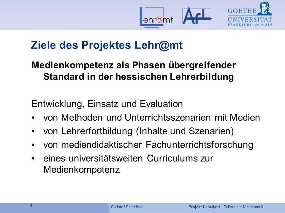 Ziele des Projektes Lehr@mt