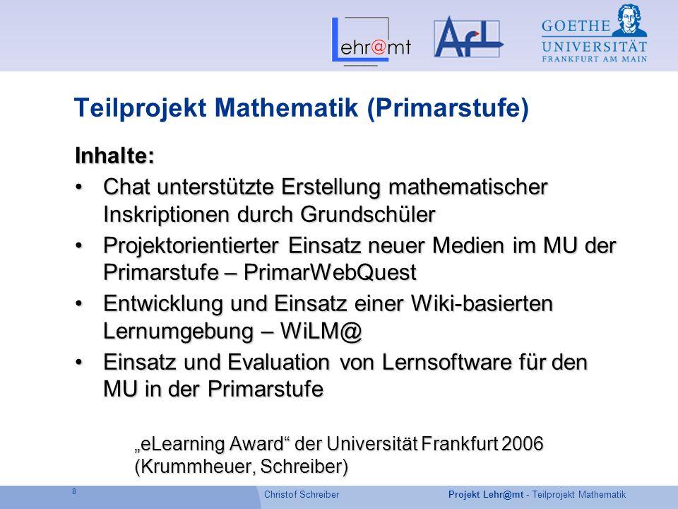 Teilprojekt Mathematik (Primarstufe)