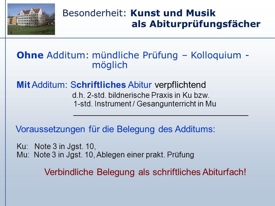 Verbindliche Belegung als schriftliches Abiturfach!