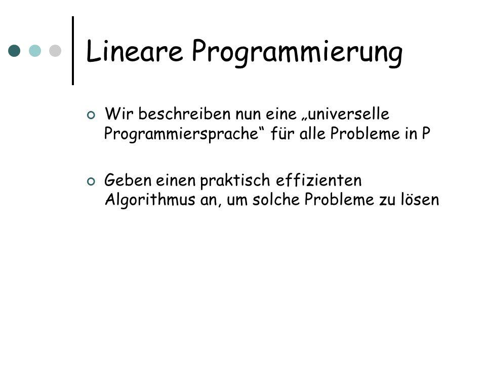 Lineare Programmierung