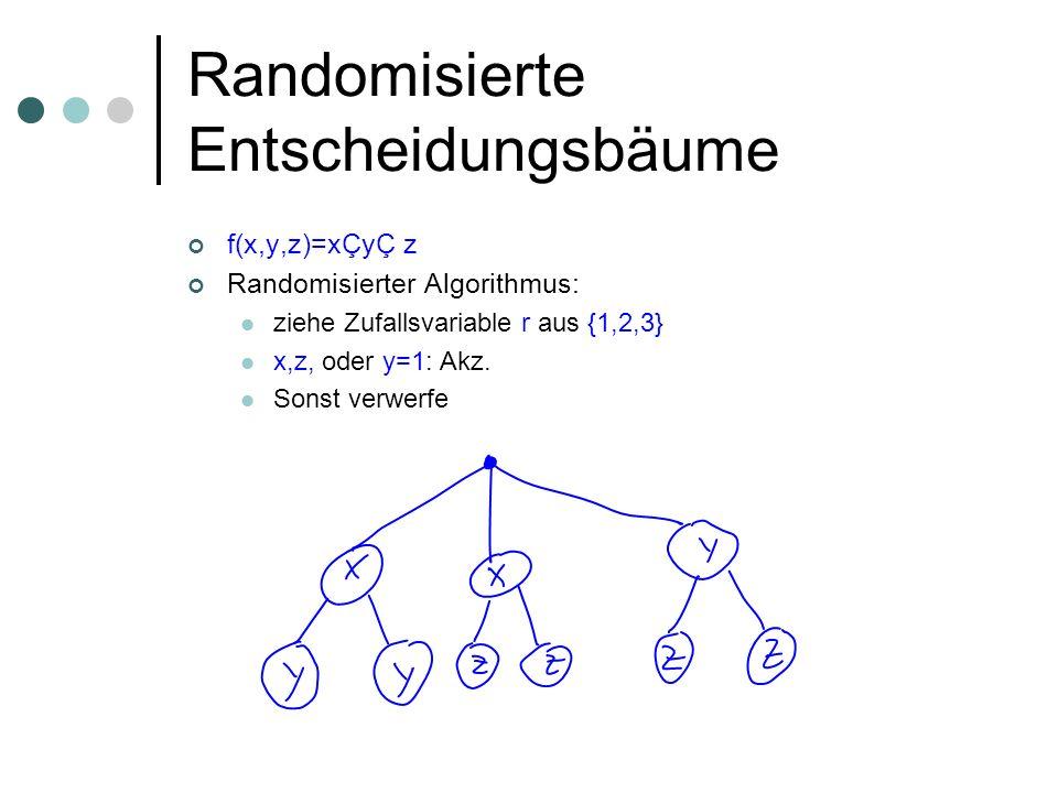 Randomisierte Entscheidungsbäume