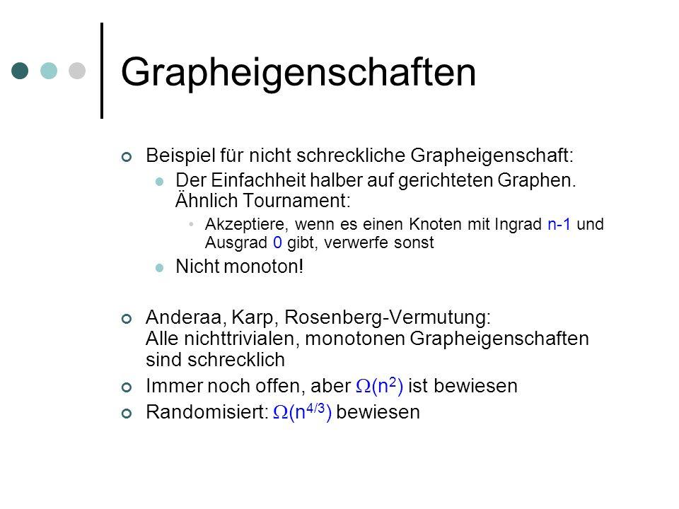 Grapheigenschaften Beispiel für nicht schreckliche Grapheigenschaft: