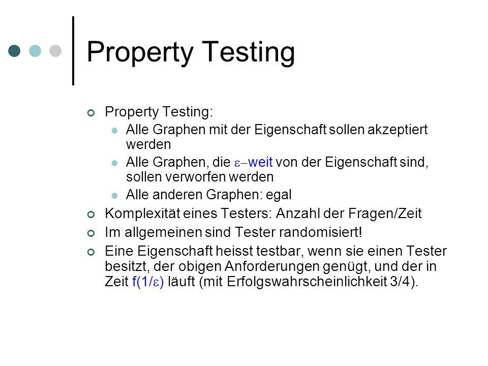 Property Testing Property Testing: