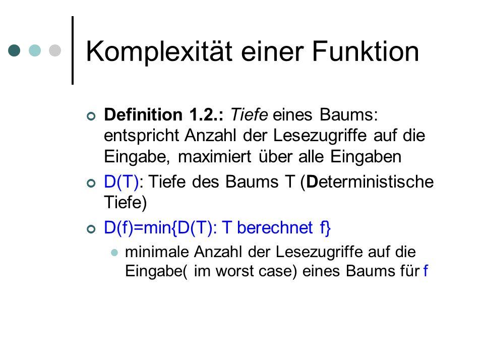 Komplexität einer Funktion