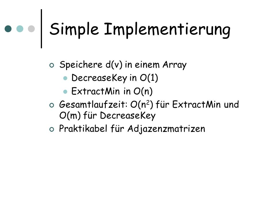 Simple Implementierung