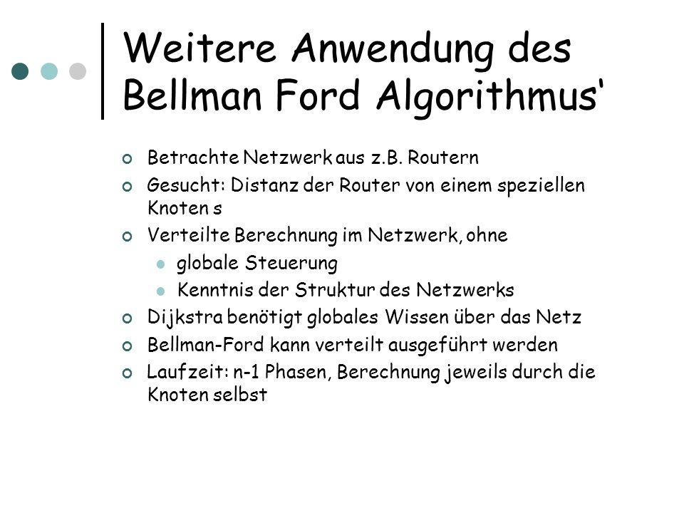 Weitere Anwendung des Bellman Ford Algorithmus'