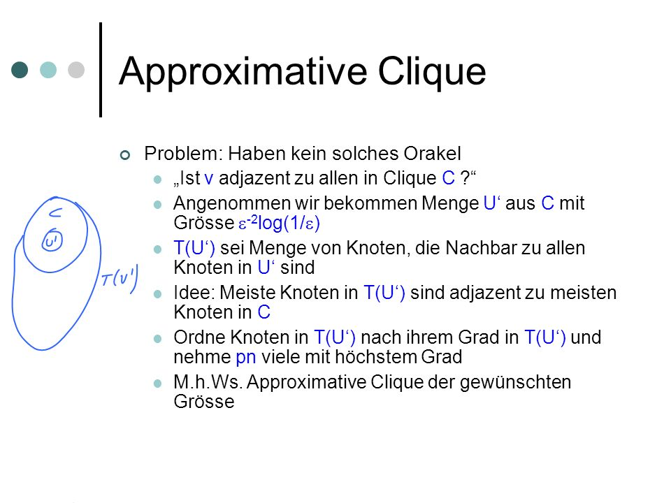 Approximative Clique Problem: Haben kein solches Orakel