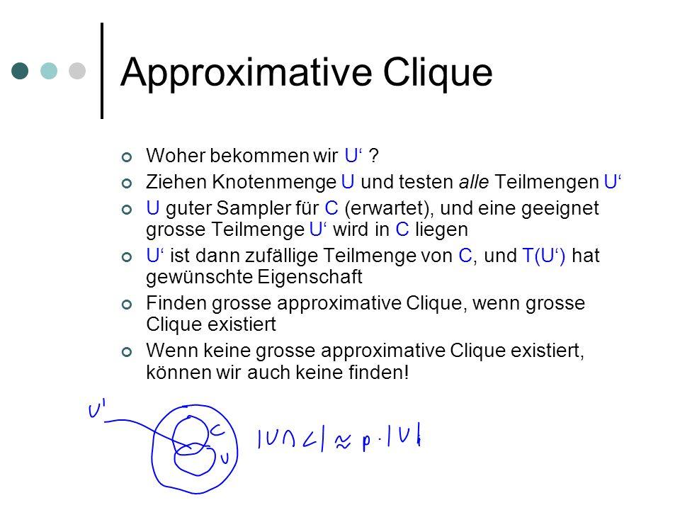 Approximative Clique Woher bekommen wir U'