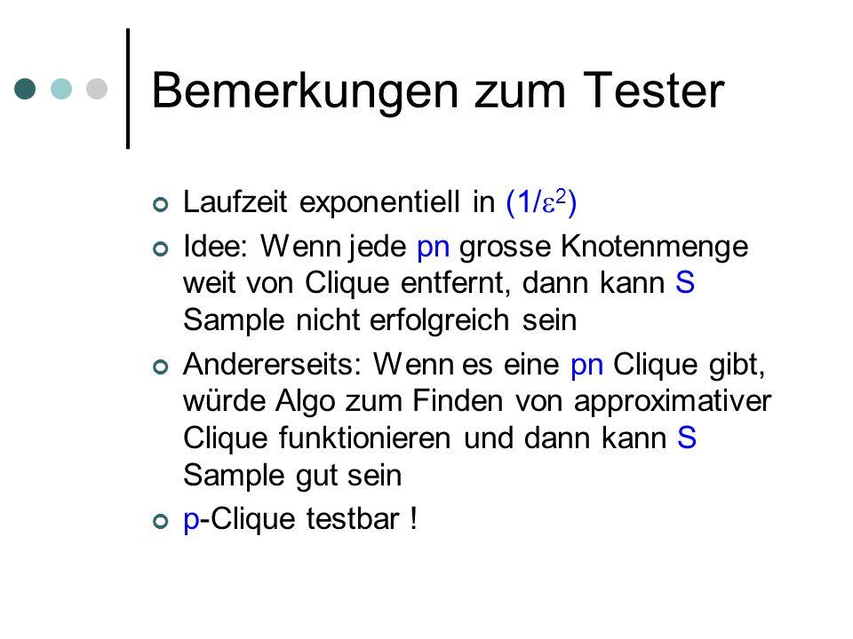 Bemerkungen zum Tester