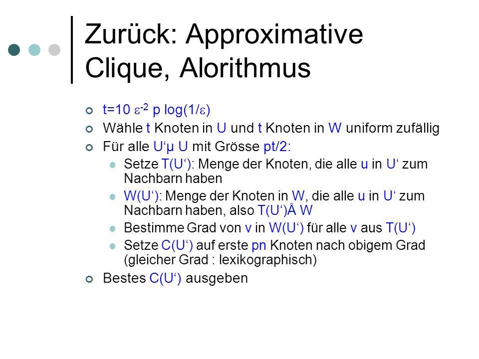 Zurück: Approximative Clique, Alorithmus