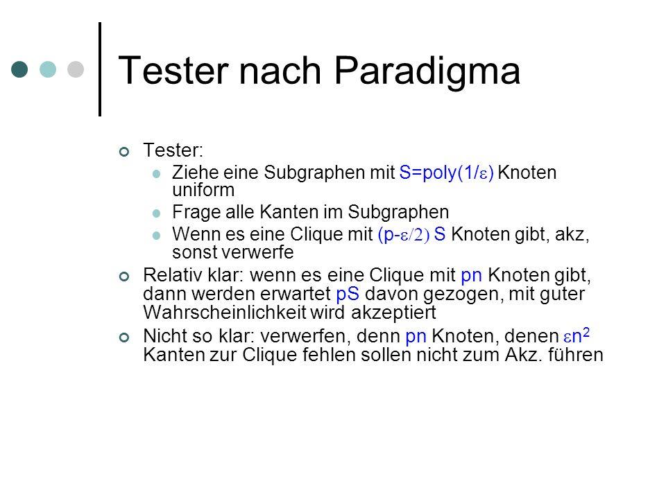 Tester nach Paradigma Tester: