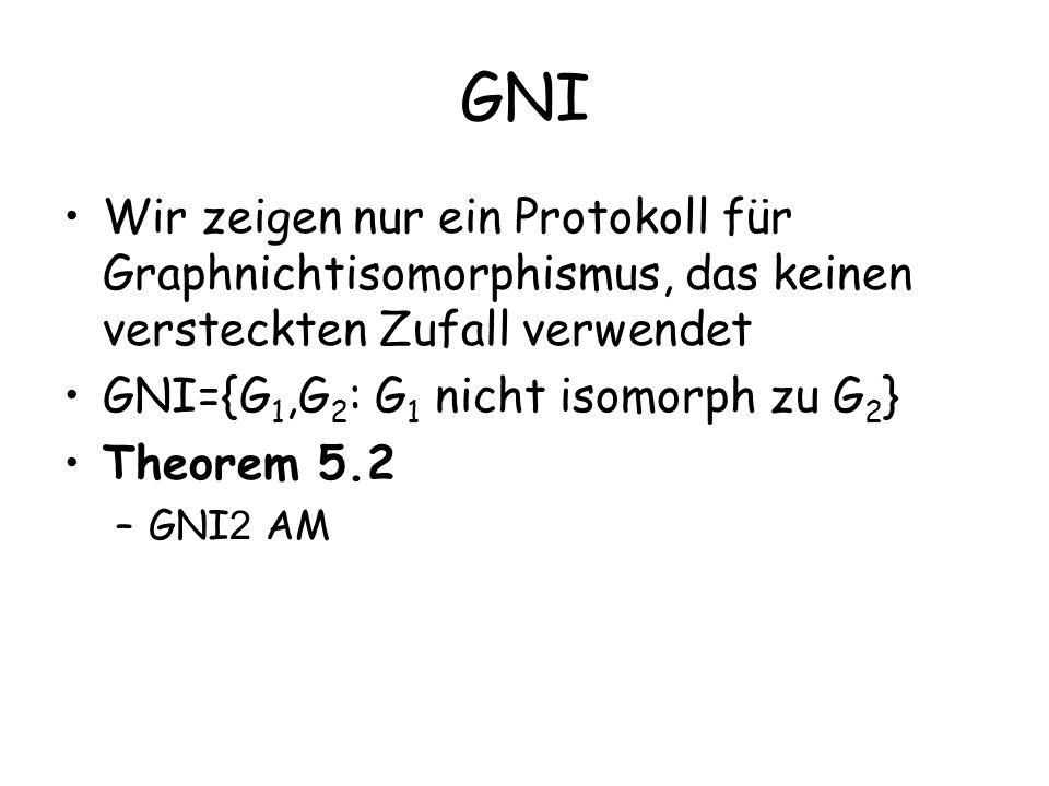 GNI Wir zeigen nur ein Protokoll für Graphnichtisomorphismus, das keinen versteckten Zufall verwendet.