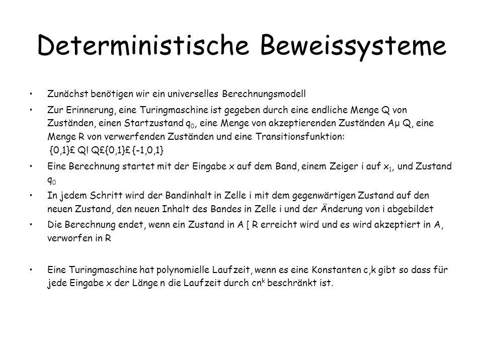 Deterministische Beweissysteme