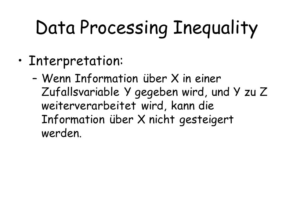 Data Processing Inequality