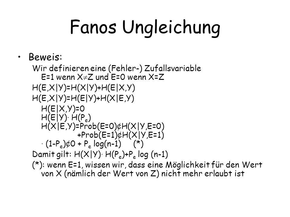 Fanos Ungleichung Beweis: