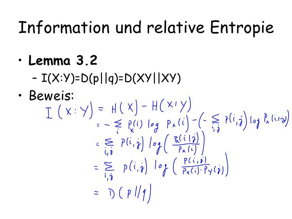 Information und relative Entropie