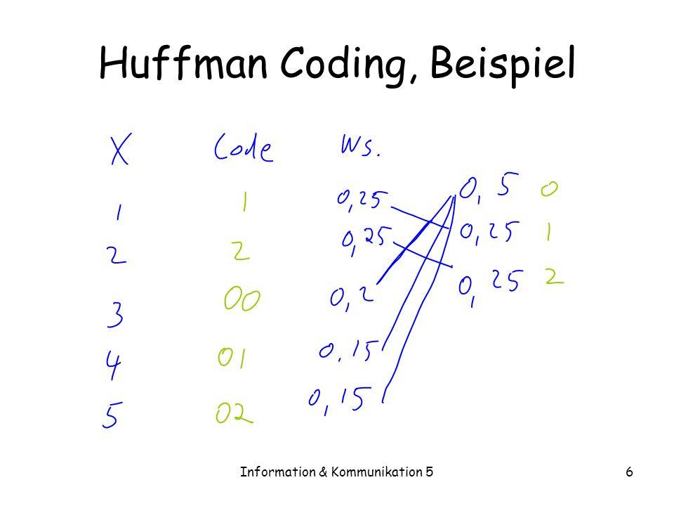 Huffman Coding, Beispiel