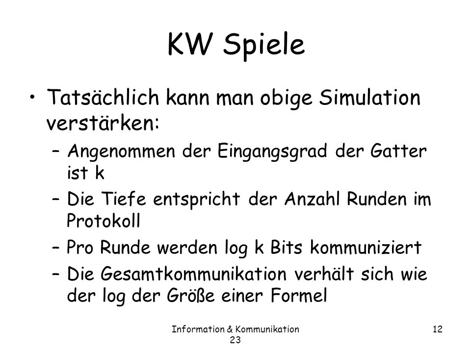 Information & Kommunikation 23