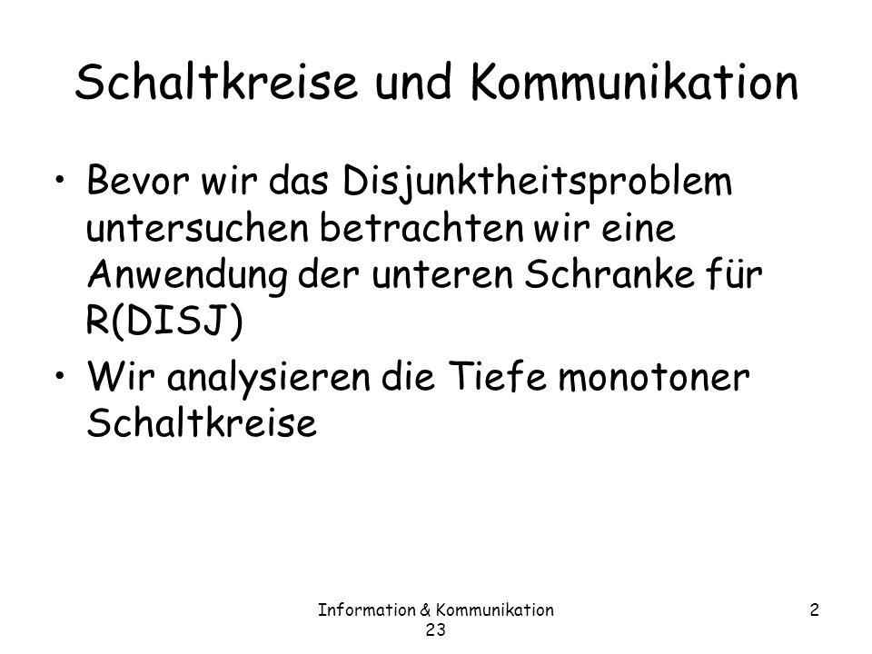 Schaltkreise und Kommunikation