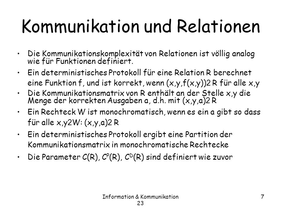 Kommunikation und Relationen