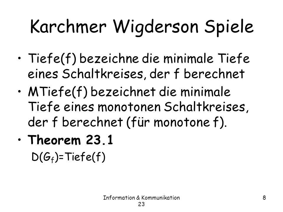 Karchmer Wigderson Spiele