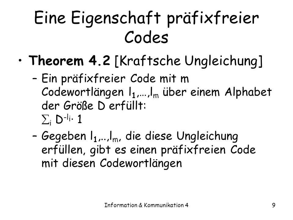 Eine Eigenschaft präfixfreier Codes