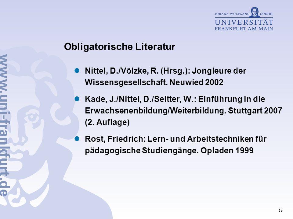 Obligatorische Literatur