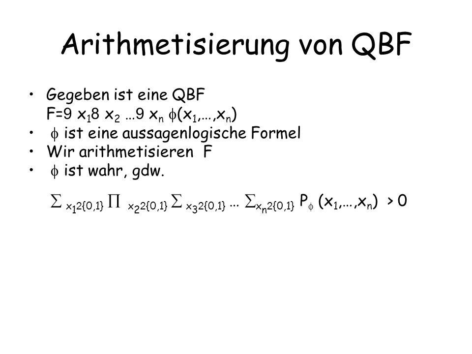 Arithmetisierung von QBF