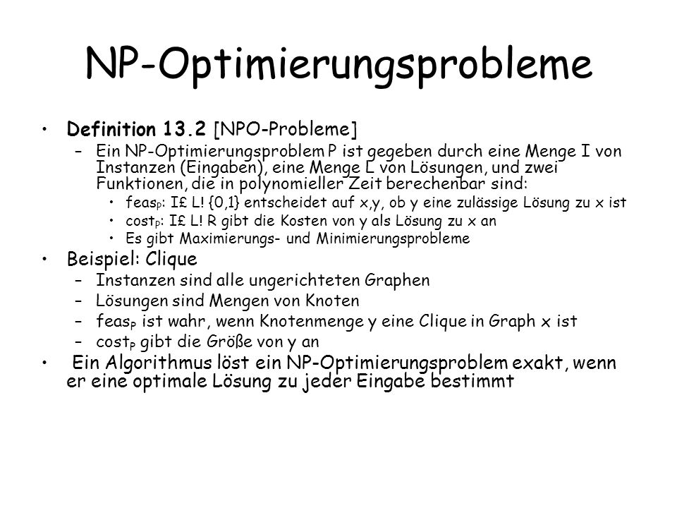 NP-Optimierungsprobleme