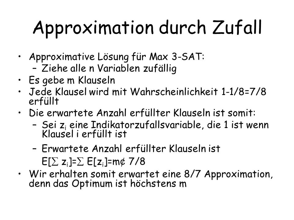 Approximation durch Zufall