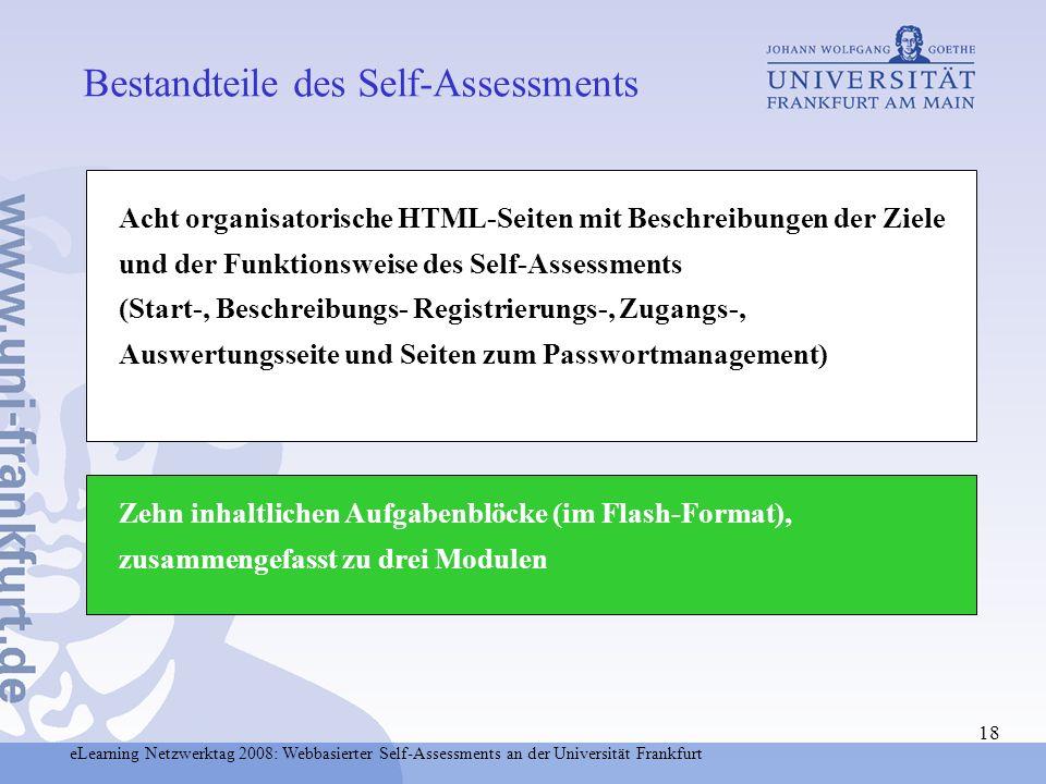 Bestandteile des Self-Assessments